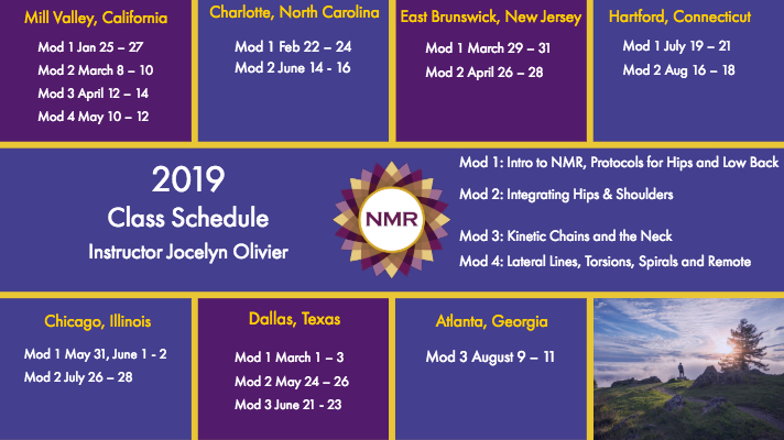 NMR Complete Schedule Jan – Aug 2019